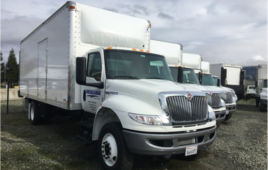 idealease rental fleet with nose cone
