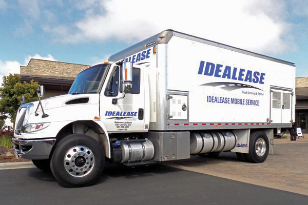 idealease mobile service truck