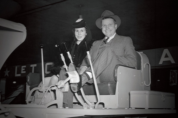 Peterson founder, Howard Peterson (right) with his wife Marion.